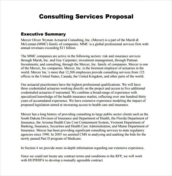 consulting proposal template free