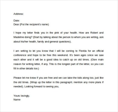How To Write A Friendly Letter Format  Cover Letter Sample