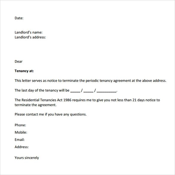 8 Notice To Vacate Letters Download for Free  Sample Templates