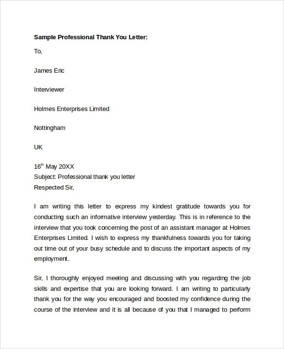 Sample Professional Letter Format  9 Download Free Documents In PDF Word
