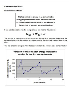 Variation of first ionisation energy chart also sample ionization documents in word pdf rh sampletemplates