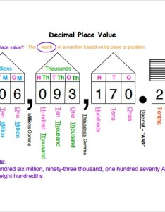 Printable decimal place value chart also sample documents in word pdf rh sampletemplates