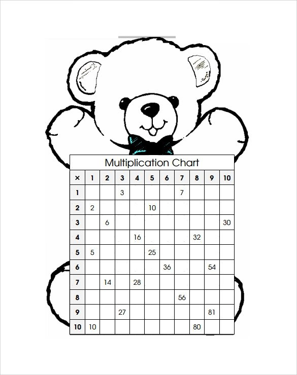 8 Multiplication Chart Templates to Download for Free