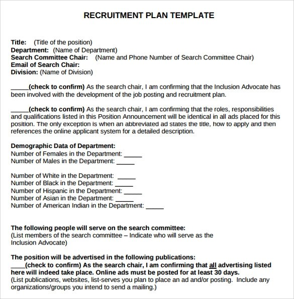 Sample Recruitment Plan Templates 7 Free Documents In PDF
