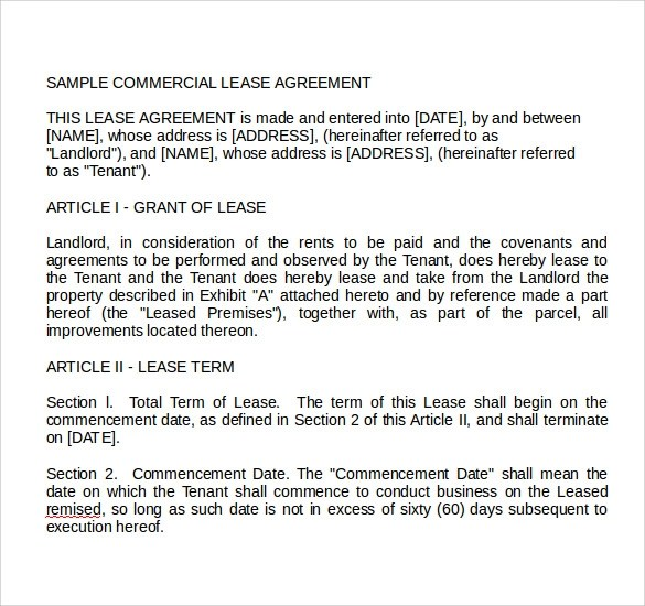 Sample Letter For Land Lease Agreement – Sample Land Lease Agreement
