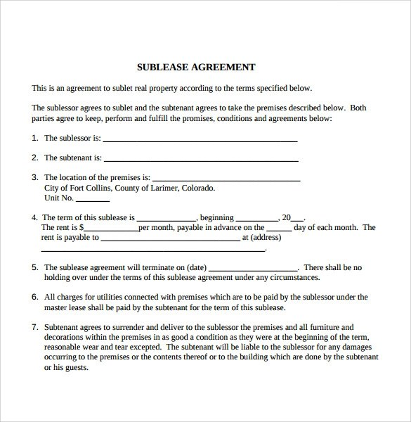 Tenant Lease Agreement Samples Examples Amp Format 6Download Free Documents In PDF WORD