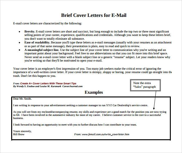 9 Job Application Cover Letter – Samples Examples