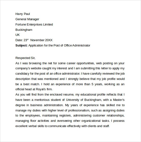 8 Entry Level Cover Letters  Samples  Examples  Formats