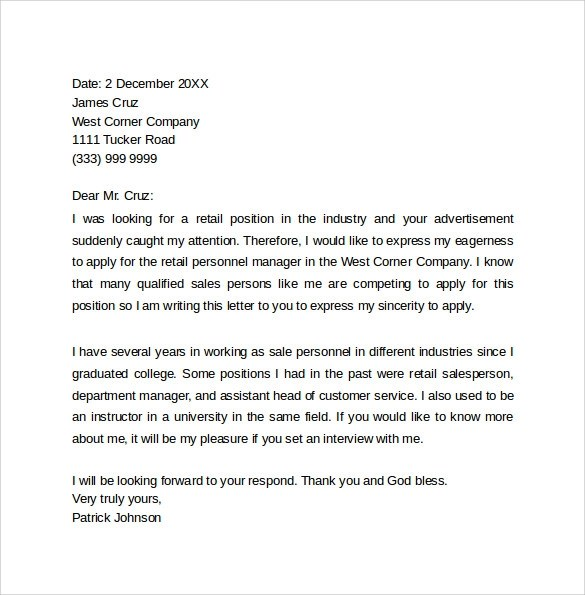 Sample Cover Letter Harvard