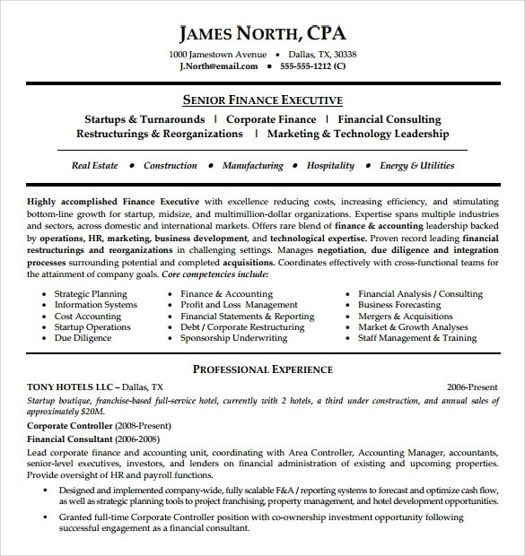 9 Consultant Resume Templates – Samples Examples & Format