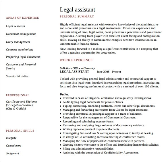 Download Resume Format For Lawyers | Free Resume Samples ...