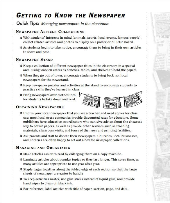 newspaper template for kids pdf