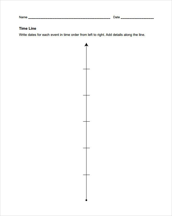7 Blank Timeline Templates Samples Examples Amp Formats Sample Templates
