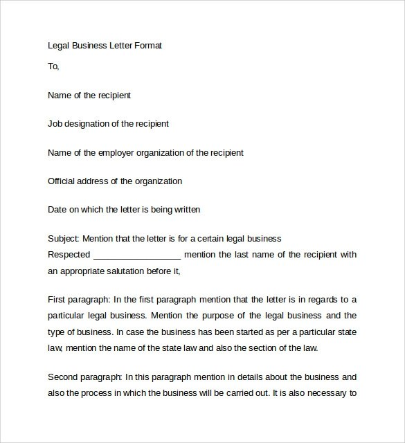 8 Business Letters – Samples Examples & Formats Sample
