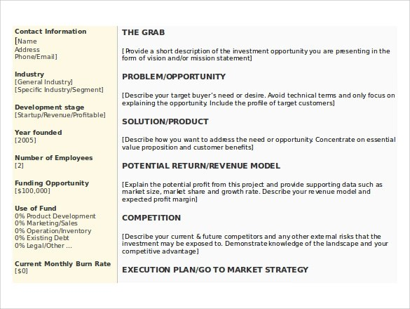 business plan business description sample