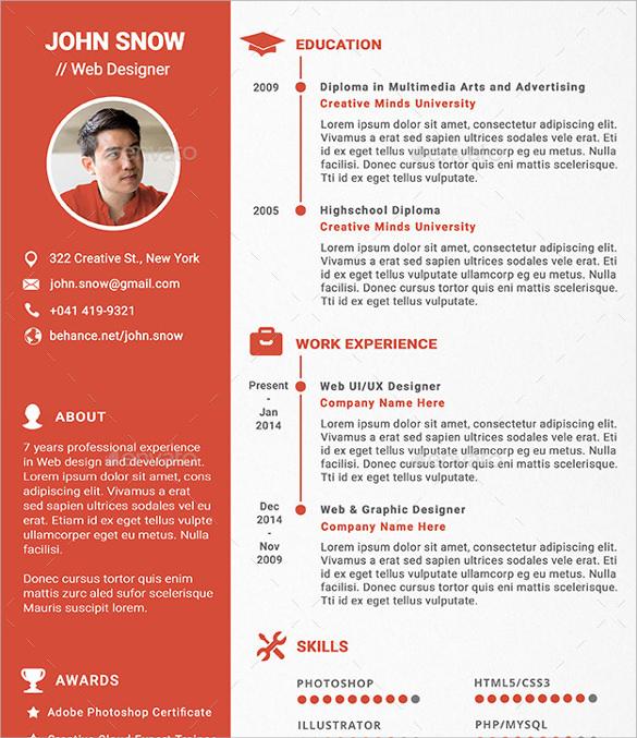 Web Designer Resume Format Doc Free Resume Templates Professional Cv Format