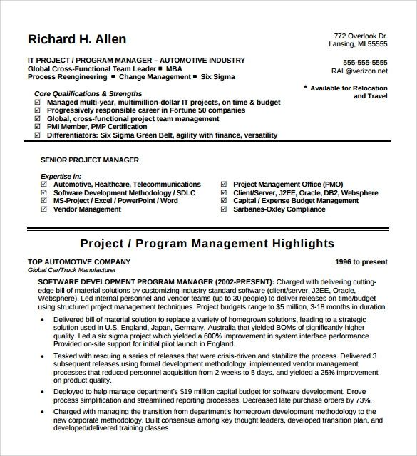 umich resume template