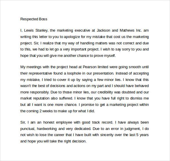 letter of apology to boss node2003cvresumepaasprovidercom