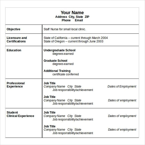 resume template download in pdf