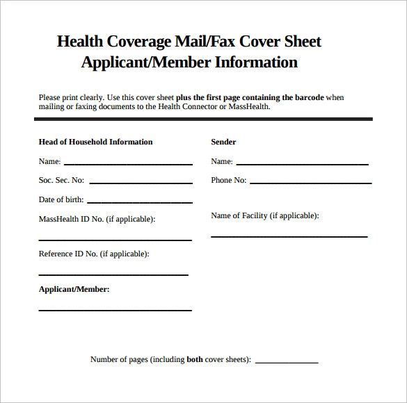 free fax cover sheets templates