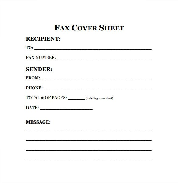 11 Sample Fax Cover Sheet  PDF Word