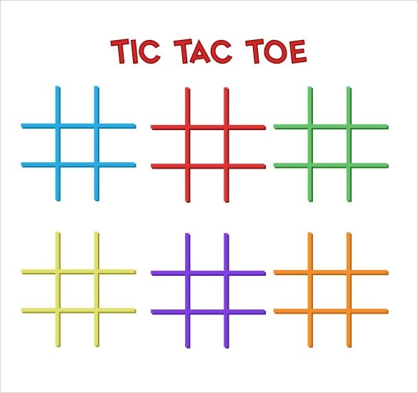 Sample Tictac Toe Template  9 Free Documents in PDF  Doc