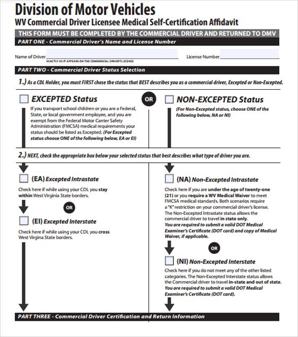 Dot Medical Card Washington State | Infocard.co
