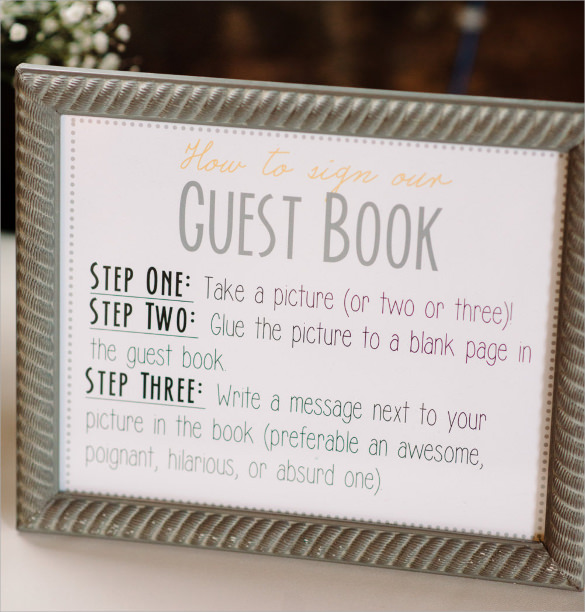Guest Book Template 9 Samples Examples & Format