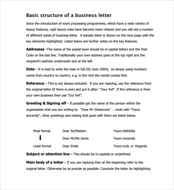 12 Business Letter Templates – Free Samples Examples