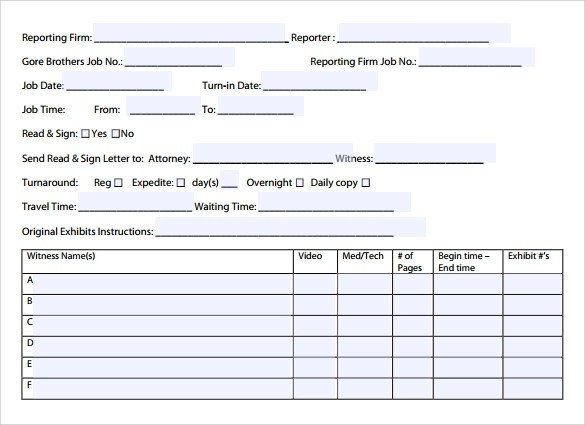 12 Job Sheet Template Examples To Download Sample Templates