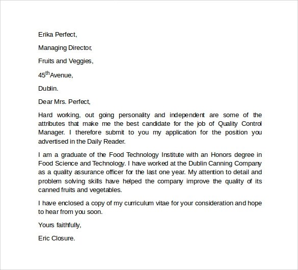 10 Professional Cover Letter Template Examples to Download  Sample Templates
