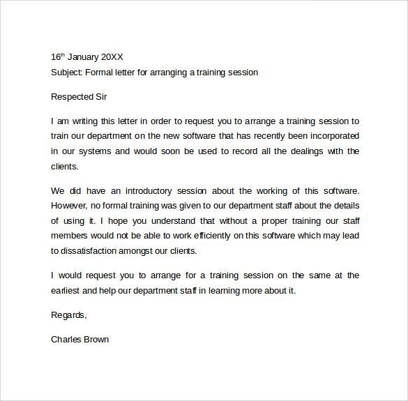 it letter format