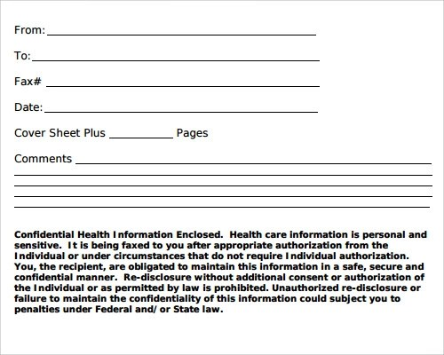 Sample Fax Cover Sheet Template 27 Documents In PDF Word