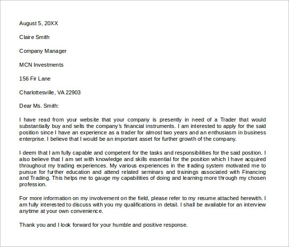 Sample Microsoft Word Cover Letter Template  18 Free Documents in PDF Word