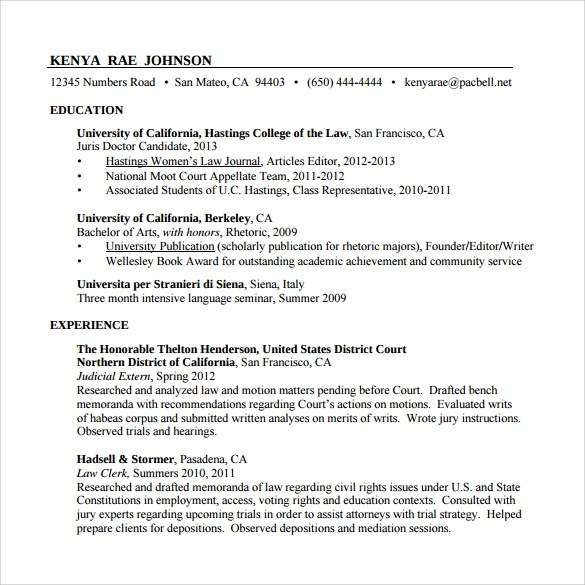 Sample Paralegal Resume 11 Download Free Documents In PDF Word