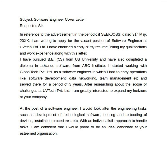 8 Sample IT Cover Letter Templates  Sample Templates
