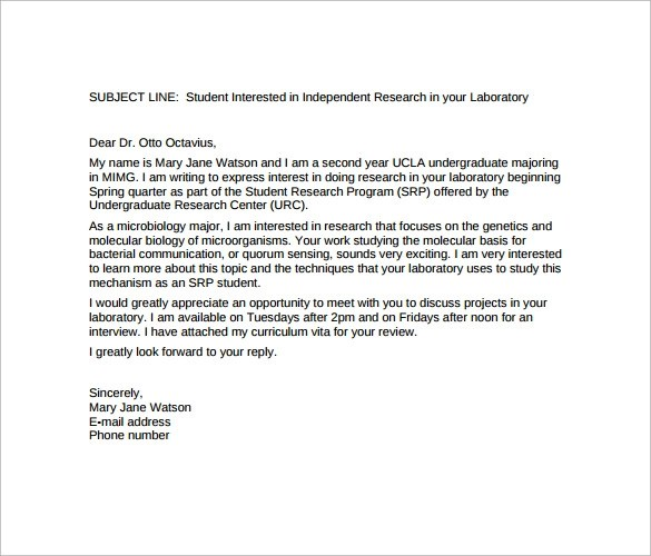 Sample Email Cover Letter Template to Download  11  Free