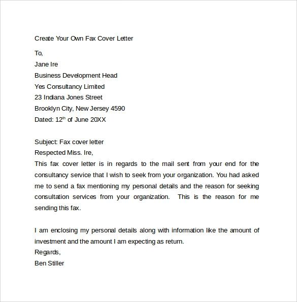 fax cover sheet templates word
