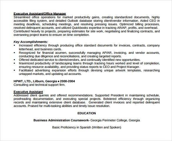 sample resume office assistant objective