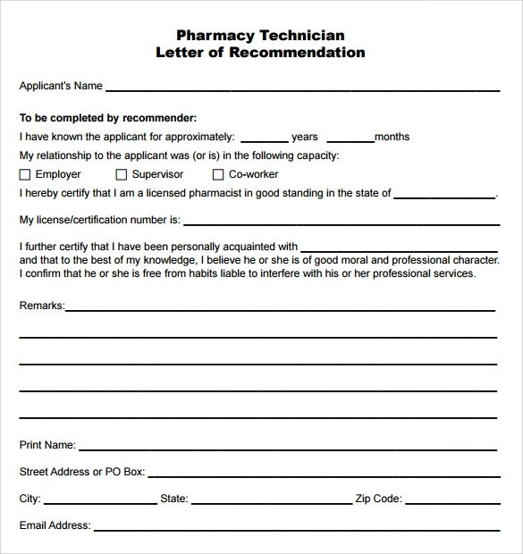14 Pharmacy Technician Letters – Samples Examples