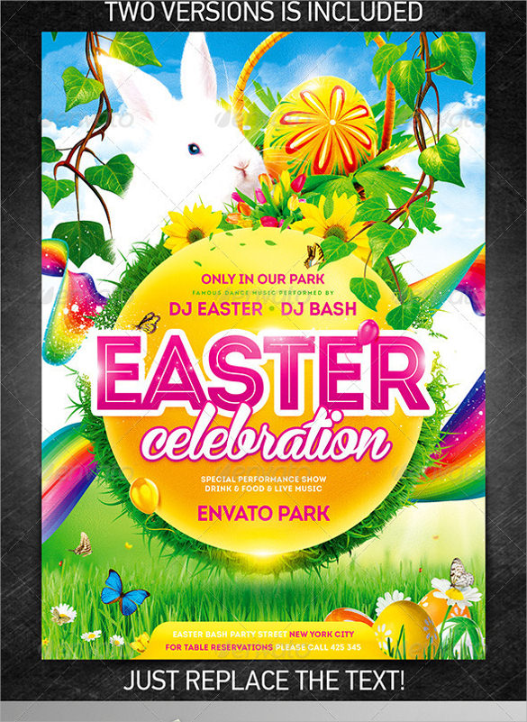 Easter Flyer Template 28 Download Documents In Vector PSD PSD