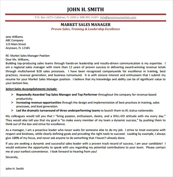 Sample Cover Letter Examples for Sale  14  Download Free Documents in PDF  Word