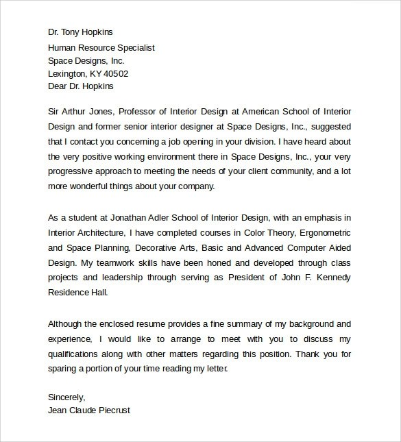 Sample Interior Design Cover Letter. Best Of Letter Design App How