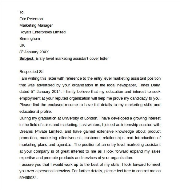 Sample Cover Letter Example For Job 13 Download Free Documents In PDF Word