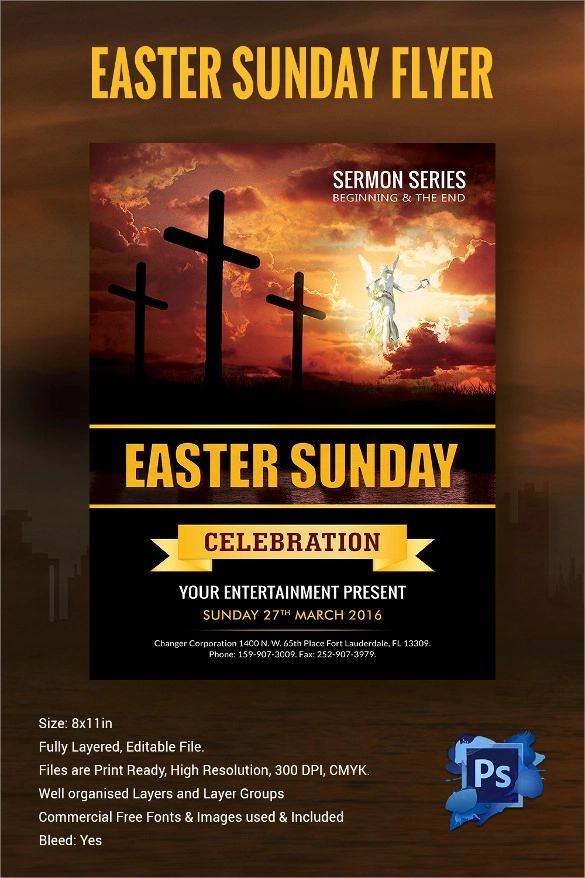free easter flyer templates