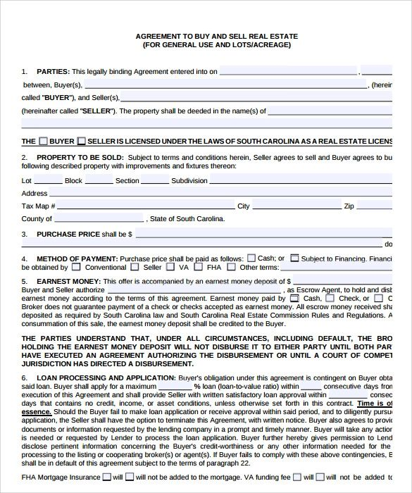 real estate documents templates