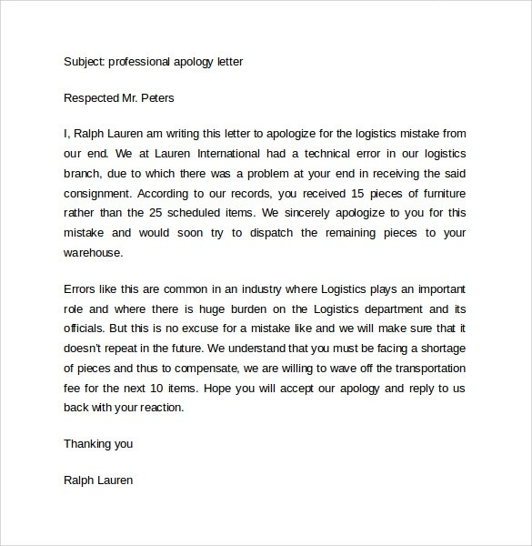 Sample Professional Letter Format 10 Free Documents In PDF Word
