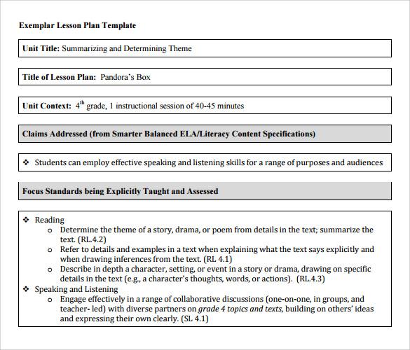 unit plan templates