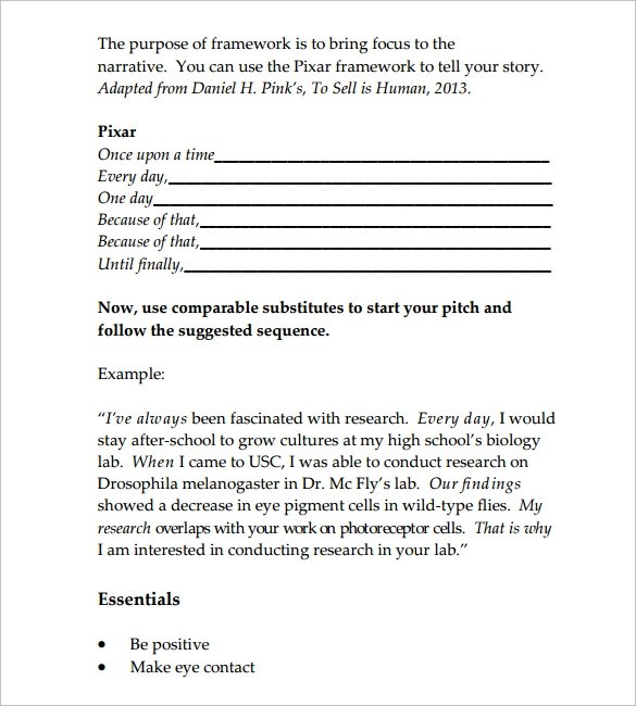 Sample Elevator Pitch Template 11 Free Documents In PDF