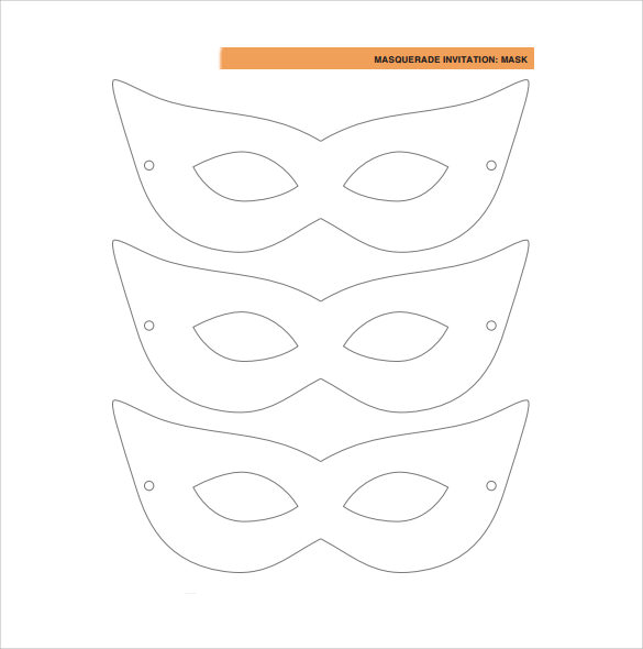 FREE 17+ Amazing Masquerade Mask Templates in MS Word